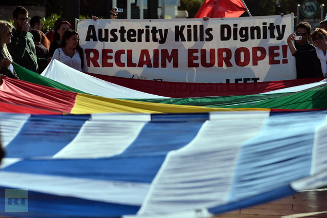 GREECE-DEBT-FINANCE-LABOUR-STRIKE-EUROPE