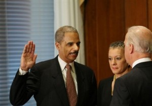 Eric Holder, Joseph Biden, Sharon Malone