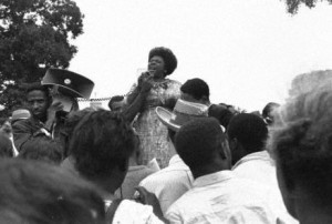 Mississippi Freedom Summer 01 Fannie Lou Hamer with bullhorn