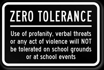 zero tolerance in schools essay Comparing community policing with the zero tolerance policy criminology essay the probation services and schools in a the notion of zero tolerance.